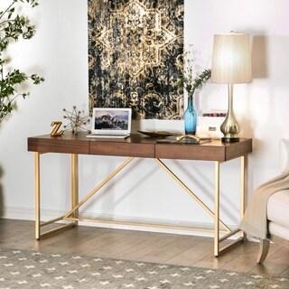 Clenlil Contemporary 60-inch Light Walnut Desk by FOA
