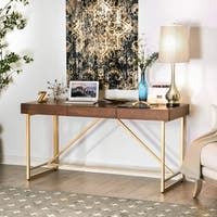 Furniture of America Clenlil Contemporary Light Walnut Desk