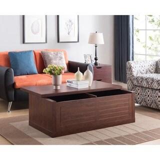 Furniture of America Retora Two-tone Distressed Grey/Black Wood Storage Coffee Table
