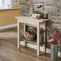 Furniture of America Sernima Contemporary Two-tone Ivory/Light Oak MDF, Veneer Console Table