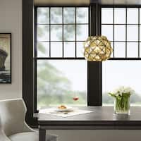 Madison Park Harlowe Mercury Black Metal Glass Pendant