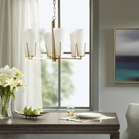 Madison Park Signature Avignon White/Gold Metal/Glass Chandelier