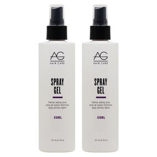 AG Hair Curl Spray Gel 8-ounce Thermal Setting Spray (Pack of 2)