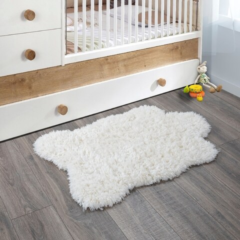 Pure Fuzzy Flokati Soft High Pile Accent Rug
