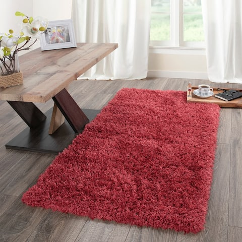 Flokati Soft High Pile Solid Design Area Rug