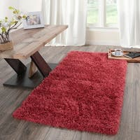 Flokati Soft High Pile Solid Design Runner Rug - 2' x 5'