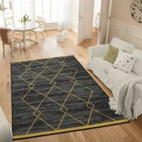 Ottomanson Studio Collection Diamond Trellis Design Area Rug - 3'3 x 5'