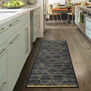Ottomanson Studio Collection Diamond Trellis Design Runner Rug, ...