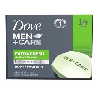 Dove Men + Care Extra Fresh 4-ounce Body and Face Bar (Pack of 14)