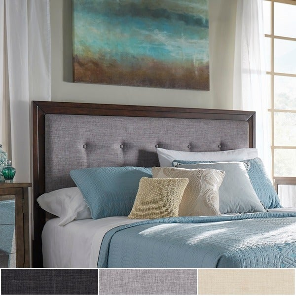 Maxwell Wood and Tufted Linen Headboard by iNSPIRE Q Classic. Opens flyout.