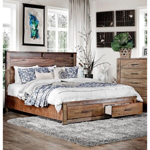 Shop Carbon Loft Marquez Antique Oak Platform Storage Bed - On Sale ...