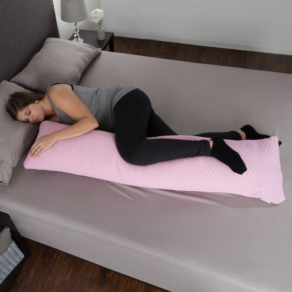Memory Foam Body Pillow, Hypoallergenic Zippered Protector by Windsor Home