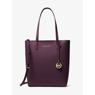MICHAEL Michael Kors Hayley Large North South Top-Zip Tote DAMSON/MINK|https://ak1.ostkcdn.com/images/products/18214859/P24357161.jpg?impolicy=medium