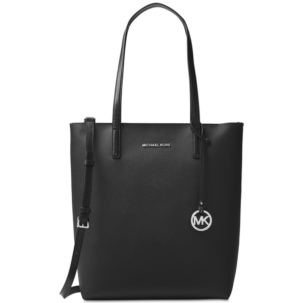 MICHAEL Michael Kors Hayley Large North South Top-Zip Tote Black/Grey Interior