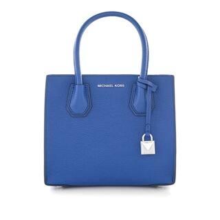 MICHAEL Michael Kors Studio Mercer Medium Bonded-Leather Messenger Electric Blue|https://ak1.ostkcdn.com/images/products/18214871/P24357158.jpg?impolicy=medium