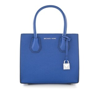 MICHAEL Michael Kors Studio Mercer Medium Bonded-Leather Messenger Electric Blue