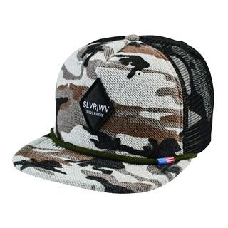 San Diego Hat Company Unisex Camo with Diamond Patch Cap Grey