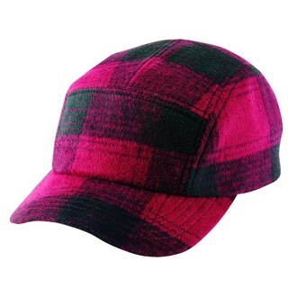 San Diego Hat Company Mens Collection Ball Cap with Adjustable Leather Strap CTH8019 Buffalo Plaid