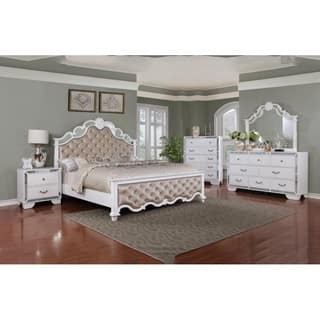Best Quality Furniture Glam White 4-piece Bedroom Set|https://ak1.ostkcdn.com/images/products/18214998/P24357261.jpg?impolicy=medium