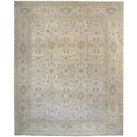 Wool and Silk Tabriz Rug (12'1'' x 15') - 12'1'' x 15'