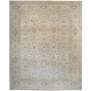 Wool and Silk Tabriz Rug - 12'1'' x 15'