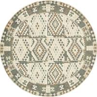 Unique Loom Yahtahey Nava Round Rug - 8' 0 x 8' 0