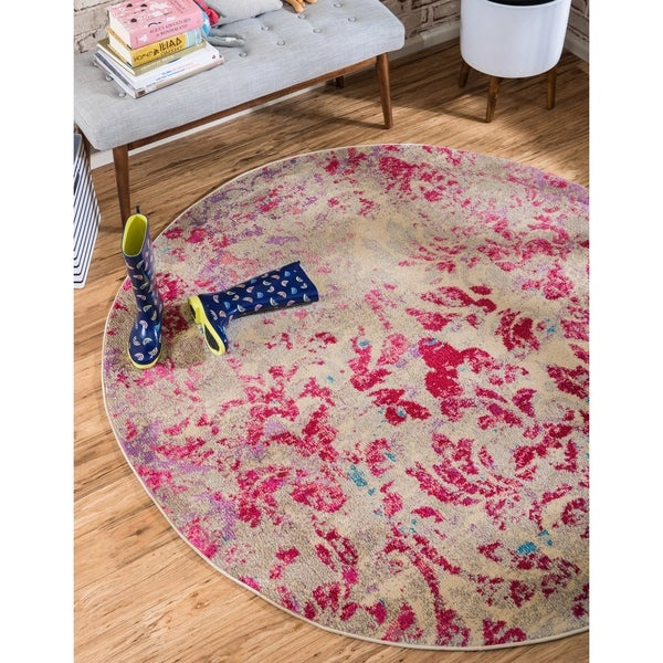 Unique Loom Royal Estrella Round Rug - Multi - 8' x 8'