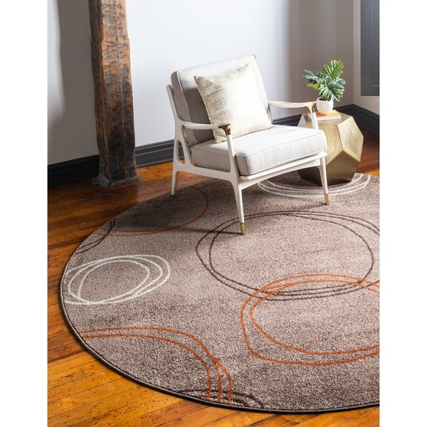 Unique Loom Autumn Cornucopia Round Rug - 8' x 8'