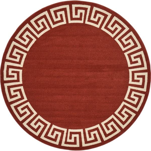 Unique Loom Modern Athens Round Rug - 8' 0 x 8' 0