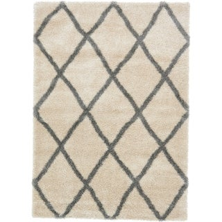 Unique Loom Luxe Trellis Shag Area Rug - 7' x 10' (More options available)