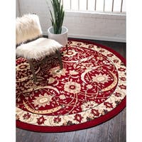 Unique Loom Cape Cod Isfahan Round Rug - 8' x 8'