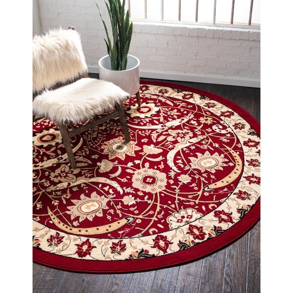 Unique Loom Cape Cod Espahan Round Rug - 8' x 8'