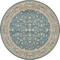 Unique Loom Leeds Nain Design Round Rug - 10' x 10'