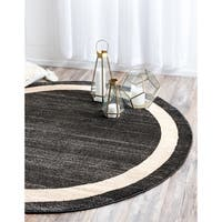 Unique Loom Maria Del Mar Round Rug - 8' x 8'