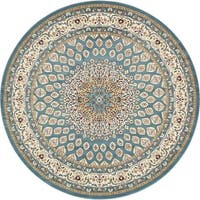 Unique Loom Nottingham Nain Design Round Rug - 10' x 10'