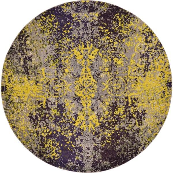 Unique Loom Marigold Estrella Round Rug - Multi - 8' x 8'