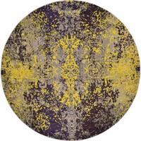 Unique Loom Marigold Estrella Round Rug - 8' x 8'