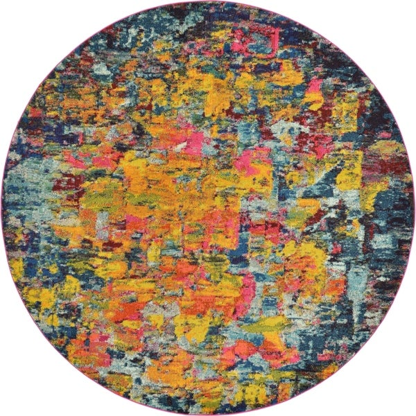 Unique Loom Guell Barcelona Round Rug - 8' x 8'