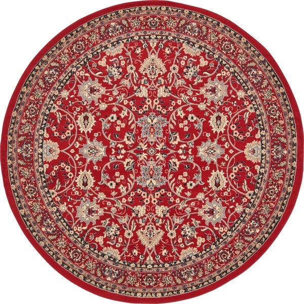 Unique Loom Washington Kashan Round Rug - 8' x 8'