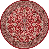 Unique Loom Washington Sialk Hill Round Rug - 8' x 8'