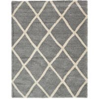 Unique Loom Luxe Trellis Shag Area Rug - 10' x 13'