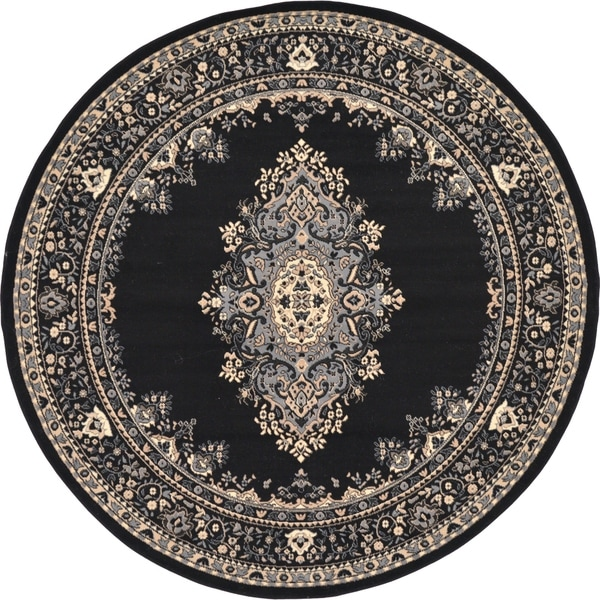 Unique Loom Washington Mashad Round Rug - 8' x 8'