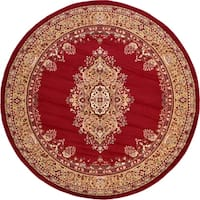 Unique Loom Washington Reza Round Rug - 8' x 8'