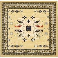Unique Loom Oasis Heriz Square Rug - 8' 0 x 8' 0