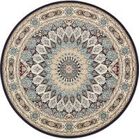 Unique Loom Adams Nain Design Round Rug - 10' x 10'