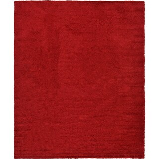 Unique Loom Solid Shag Area Rug - 12' x 15' (Option: Cherry Red)