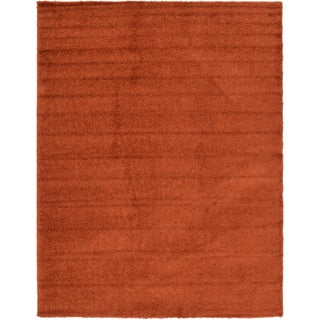 Unique Loom Solid Shag Area Rug - 12' x 15' (Option: Terracotta)