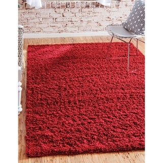 Unique Loom Solid Shag Area Rug - 9' x 12'