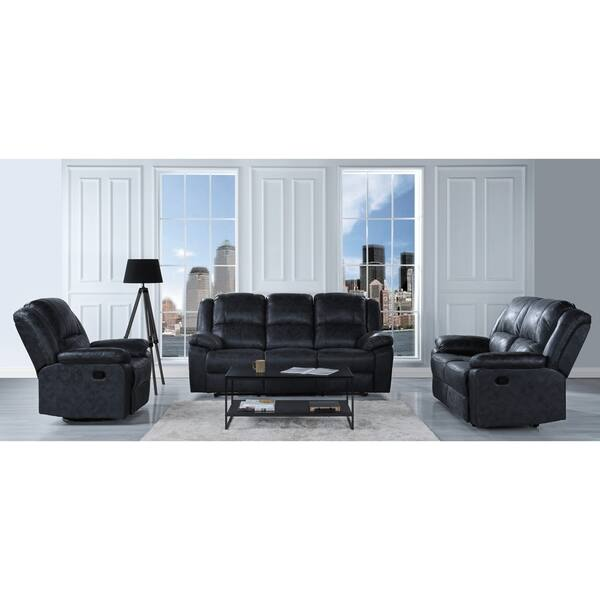 Shop Oversized and Overstuffed Living Room Recliner Set, 3 ...