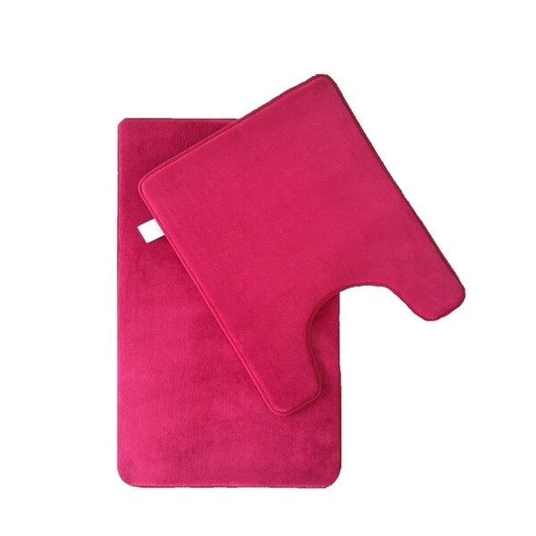 Shop Verno Memory Foam Short Pile Solid Color Bath